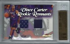2000-01 Vince Carter Showcase ROOKIE REMNANTS COURT/JERSEY #11/15 BGS 9.5 G MINT