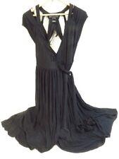 NWT Marc by Marc Jacobs Black Plunging Neckline Wrap Dress Sz Small