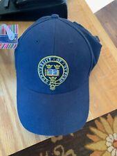 Men's 'University Of Oxford' Crest Logo Strap Back Baseball Hat Cap Blue