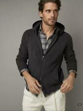Massimo Dutti Hoodie Casual Men's Gray Jacket , Front Zip, size  L