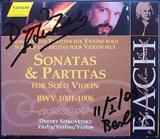 Dmitry SITKOVETSKY Signed BACH Solo Violin Sonata Partita 2CD