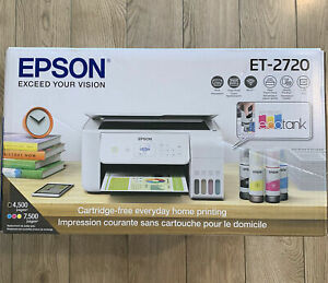 Epson ECOTANK ET-2720 Wireless All-In-One Color Printer Scanner Copier White