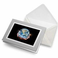 Greetings Card (Grey) - Save the Earth Planet Environment  #21656