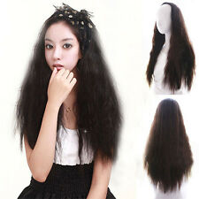 Half Wig Fashion Hair Extension Corn Curly Long Wavy Wig Cosplay Hairpiece