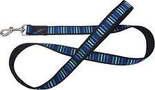 "Hem & Boo Contemporary Black / Blue Neoprene Padded Handle Dog Lead 1""x 48"""