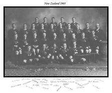 """ALL BLACKS 1905 RUGBY SQUAD LIMITED EDITION PRINT WITH AUTOGRAPHS 24"""" x 20"""""""