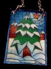 Dolls House (l' aspetto di una macchia tiffiny) Finestra di vetro pannello di Natale
