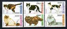Chats Guinée (1) série complète de 6 timbres oblitérés