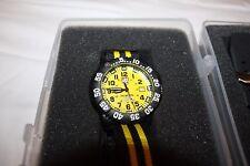 "Luminox Men's ""Scott Cassell' Swiss Quartz Watch Yellow /Black, A.3955.SET - NEW"