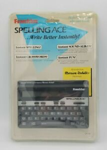 1991 Franklin Electronic Spelling Ace SA-98 Instant Correction Brand New Sealed