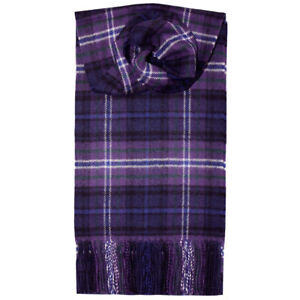 SCOTLAND FOREVER TARTAN Scarf 100% Lambswool Made in Scotland Lochcarron