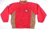90s San Francisco 49ers 1/2 ZIP Packable Pullover Windbreaker Jacket L Vintage