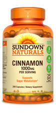 Sundown Naturals Cinnamon 1000mg Supplement 200 Capsules