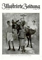 Kinder am Gardasee XL Kunstdruck 1919 von Josef Engelhart * Wien Esel Maultier
