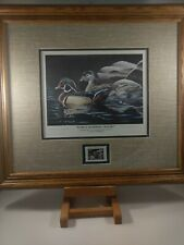 Rare Vintage Early Morning Magic N. Anderson Stamp & Print Signed Collector's Ed