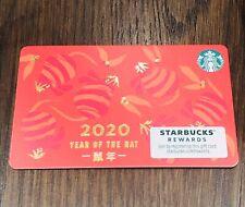 2020 STARBUCKS NEW YEAR OF THE RAT Gift Card Rare
