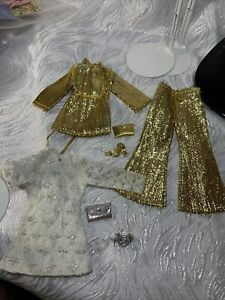 Vintage Barbie Doll Clone Mommy Made Hand Made Clothes Lot Shoes Accessories Gng