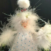 Department 56 Krinkles Christmas Floral Fairy Doll With Holly Accents