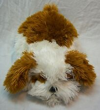 """Aurora FAT FLOPPY BROWN & WHITE DOG 12"""" Plush Stuffed Animal Toy"""