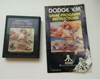 Atari 2600 Game - Dodge 'em with Instructions Manual (CX2637)