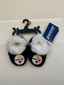 Cute! NFL Pittsburgh Steelers Baby Bootie Slippers!