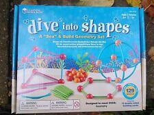 Dive in forme di geometria 2D e 3D Set di costruzione matematica delle risorse 129 PEZZI