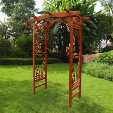 Natural Wood Garden Outdoor Arbor Arch Gazebo Wedding Landscape Ceremony