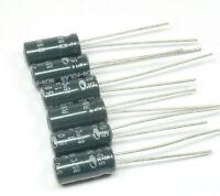 4pcs ELCAP//TSI 10uF 50v Bipolar NonPolar Axial Electrolytic Capacitor NP NOS