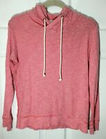 J. CREW Women's Thin Light Red Striped Cotton Beach Hoodie, Size S