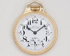 1947 Hamilton 992B 16s 21j Pocket Watch in 10k G.F. Hamilton Bar-over-Crown Case
