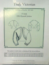 Truly Victorian sewing pattern for 1864 Spanish jacket Bolero all sizes TV444
