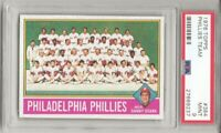 1976 TOPPS # 384 PHILADELPHIA PHILLIES TEAM CARD , PSA 9 MINT,  L@@K