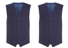 Chester Barrie Men's Blue Hopsack Waistcoat UK Size 46R BNWT £100
