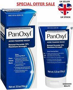 PanOxyl Acne Foaming Wash Benzoyl Peroxide 10% 5.5oz (156g) - Expiry 11/22