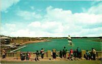 Vintage Postcard - Fishing from Bass River Bridge Massachusetts MA #3375