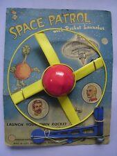 MEGA RARE 1964 Louis Marx SPACE PATROL SATELLITE CON Lanciarazzi giocattolo MOC