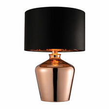 Chrome Bullet Design Table Lamps Light Modern Living Room Home Lighting Lamps Copper