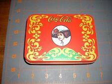 Coca Cola Metal Tin Case with Playing Cards Deck and Score Pad Game