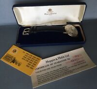 VINTAGE MAPPIN & WEBB 9ct .375 SOLID GOLD AUTOMATIC MEN'S PRESENTATION WATCH