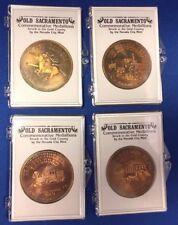 Nevada City Mint, Old Sacramento Commemorative Medallions, Lot of 4