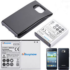 4800mAh Extended Battery With Black Cover For Samsung Galaxy S2 II GT-I9100