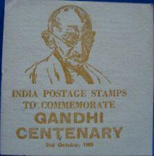 Old Vintage Gandhi Postal Stamps Folder from India 1969