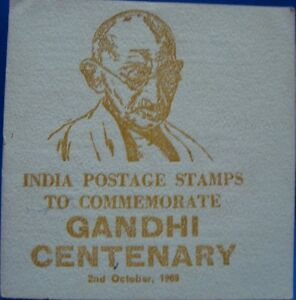 Old Vintage Gandhi Postal Stamps Folder from India 1969