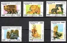 Animaux Faune sauvage Cambodge (41) série complète 6 timbres oblitérés