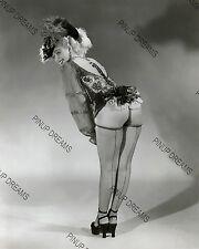 "Vintage 10""x 8"" Re-print Photograph of Burlesque Dancer Lynne O'Neil, Rockabilly"