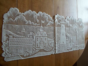 HERITAGE LACE IVORY/CREAM LIGHTHOUSE COUNTRY COTTAGE RUNNER 14.5 X 35 ITEM 2832