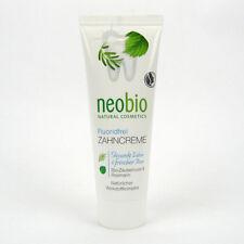 (2,52/100ml) 3x Neobio Zahncreme fluoridfrei 75 ml