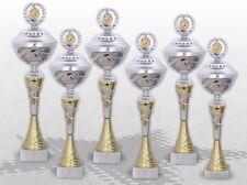 6er TOP POKALE CHAMPION mit Gravur & Emblem große Pokalserie günstig kaufen