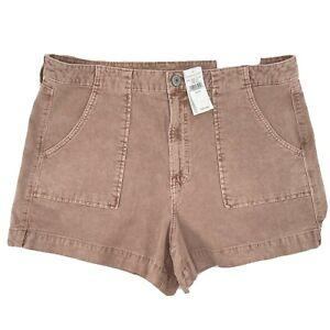 American Eagle Women's Hi-Rise Pink Corduroy Super Stretch Shorts Size 18 NEW!