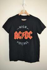 BLACK ACDC AC/DC HIGH VOLTAGE 2016 ROCK BAND PRINT T-SHIRT UK SMALL MENS
